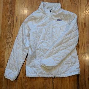 White Patagonia Nano Puff Jacket